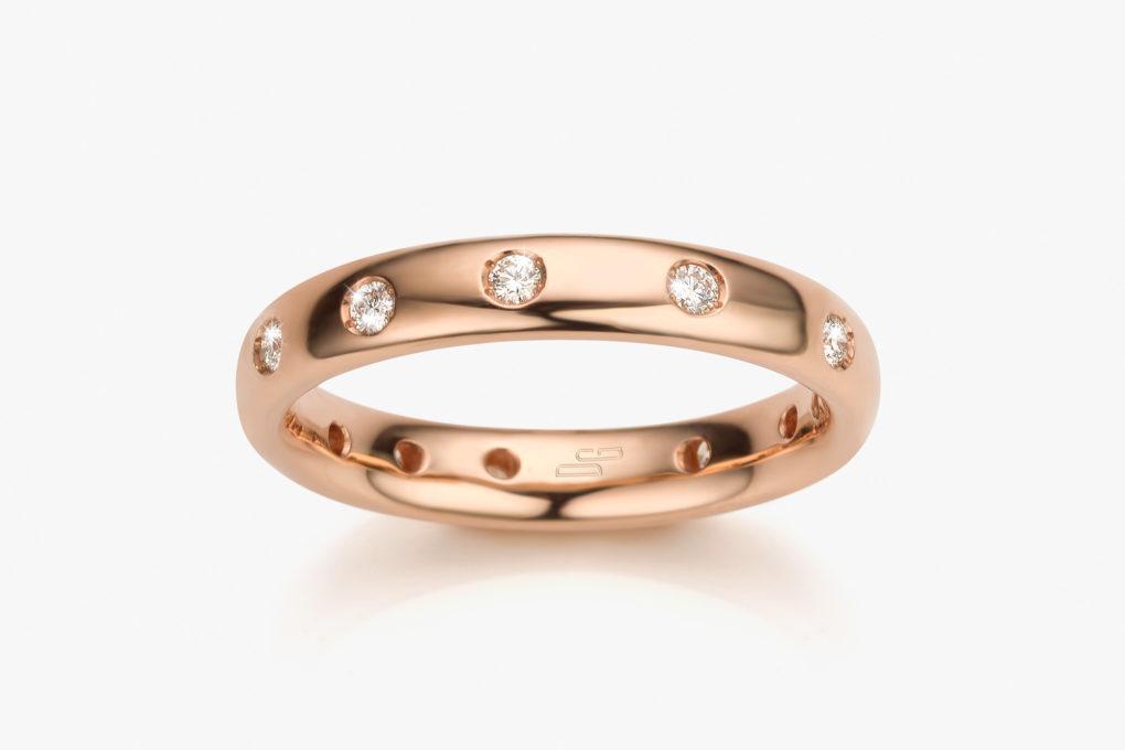 Alliance Or Rose Diamants Harmony Wedding Joaillerie Maison De Greef 1848 Copie